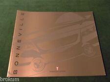 """MINT ORIGINAL 2000 PONTIAC BONNEVILLE SALES BROCHURE 10"""" X 12"""" 28 pg  (BOX 409)"""