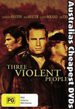 Three Violent People DVD NEW, FREE POSTAGE WITHIN AUSTRALIA REGION 4