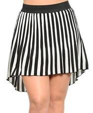 Striped Asymmetrical Skirts for Women