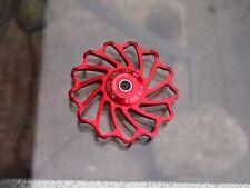 Keramik Schaltrolle CNC 13T MTB eta bike 50mm rot ceramic bearing 13 Z.Teeth