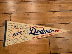 Vintage 1978 Los Angeles Dodgers World Series Champions Full Size Roster Pennant