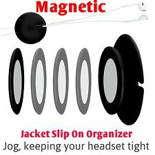 Headphone Cord Organizer Magnetic Earbud Wire Retractor Cable Excess Wrap Ties