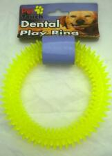 Soft Spiky Plastic Yellow Teething Ring Toy for dogs, puppies and other pets