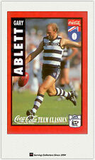 1995 AFL Coca Cola Classics Trading Card No9 Gary Ablett (Geelong)