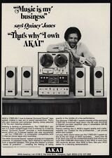 1971 QUINCY JONES Producer - AKAI 1730D-SS1 Surround Sound VINTAGE ADVERTISEMENT