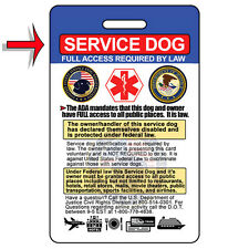 Tarjeta de identificación de perro de servicio