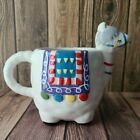 Llama Figural Coffee Mug Ceramic Hand Painted Hot Beverage Cup Animal Decor
