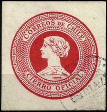 CHILE, OFFICIAL SEAL, RED, YEAR 1902, USED
