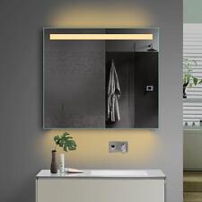 Badezimmerspiegel Badspiegel mit Kalt/Warmlicht und Steckdose 80x70 cm TSL80-70