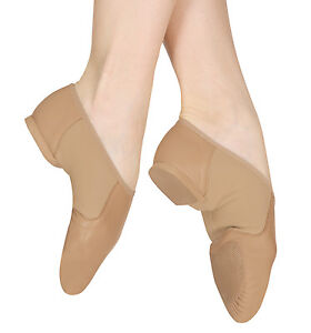 Bloch SO495 Neoflex Split Sole Slip on Jazz Dance shoes Tan