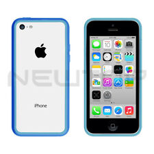 Cover rigida custodia BUMPER CELESTE per APPLE IPHONE 5C 5 C NEWTOP®