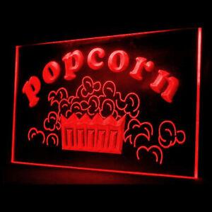 110053 Popcorn Shop Snack Cafe Lure Sweet Salt Display LED Light Neon Sign