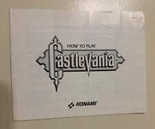 Castlevania NES Instruction Manual Booklet Nintendo