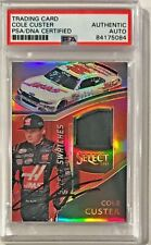 2017 Panini Select Cole Custer Race Used Fire Suit Signed Auto Card PSA/DNA