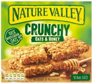 40 x2 NATURE VALLEY Crunchy Oats & Honey Breakfast Cereal Granola Snack Bars