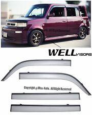 For 04-07 Scion xB WellVisors Side Window Visors w/ Black Trim Rain Guard