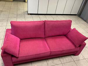 Hochwertige Couch-wie NEU-NP 1.700 €-Farbe dunkel Pink-Französische Marke