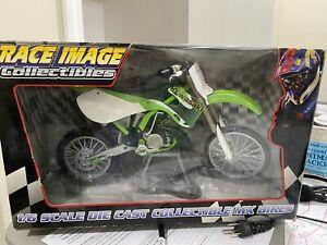 Race Image 1/6 Die Cast 2000 Kawasaki KX250 Dirt Bike Motocross Toy Zone Rare