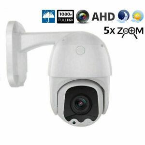1080P 2MP 5X Zoom CCTV PTZ Security Dome Camera Mini ABS AHD Control 2.7-13.5mm