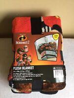 """Disney Pixar Incredibles 2 Super Soft Plush Team Incredible Blanket 62"""" x 90"""""""