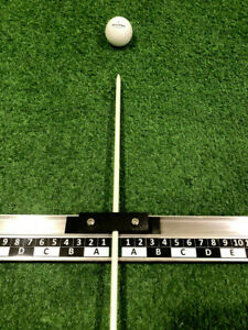 Golf Ball and Stance Alignment Aid.  Find & Repeat Your Best Setup For Each Club