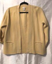 Women's CHICO'S yellow cotton Cardigan Sweater Size 1