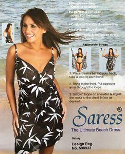 Saress The Ultimate Beach Dress uk 8 10 cover up swim wrap sarong kaftan Galaxy
