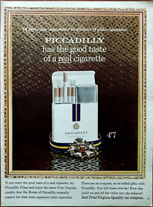 Piccadilly Has the Good Taste of a Real Cigarette / Dormy Blanket Advert 1966
