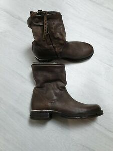 Airstep A.S.98 Boots Leather Brown Size EU 37