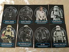 2016 Topps Star Wars Rogue One Series 1 Villians of the Empire 8 Card Set