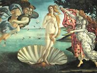 Painting Sea Shell Goddess Birth Venus Botticelli Art Canvas Print