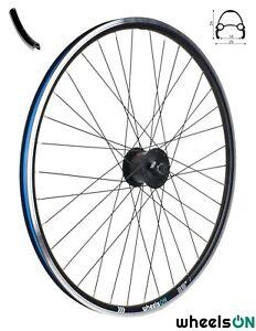 QR 700c wheelsON Front Wheel Shimano Dynamo Nexus DH-3000-3N Black 6v/3w 36H