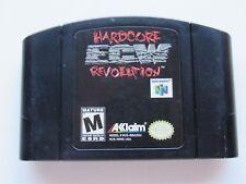 ECW Hardcore Revolution Nintendo 64 N64 Authentic Retro Wrestling Game GOOD!