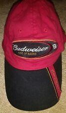 Budweiser King of Beers #8 Dale Earnhardt Jr hat Baseball cap Red soft NASCAR