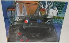 """RAOUL DUFY """"BULLFIGHT"""" COLOR OFFSET LITHOGRAPH"""
