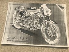 AJS7R  Manx Norton Ariel 497 HT5 Gold Star photo Copy 12 Sports machine souvenir