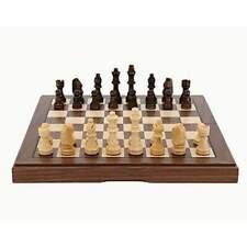 "Chess Set Folding Walnut Inlaid 30cm (12"") - Dal Rossi"