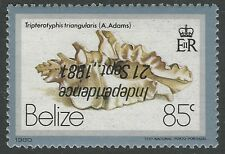 1981 Belize Sc 584 var / SG 641a - 85c Independence Inverted Overprint, Mint NH