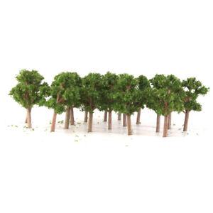 50 Dark Green Banyan Tree Model Train Railway Layout N Z 1/200 Scenery 5.5cm