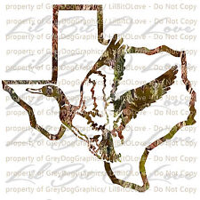 Camouflage Camo Texas Duck Hunter Hunting Vinyl Decal Sticker Fowl Drakes Car