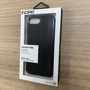 Incipio DualPro Pure iPhone 8+/7+/ 6s + /6+ Black Case with 2-Layer Construction