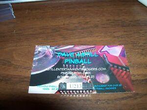 whitestar pinball chip u 213 data east sega stern cpu