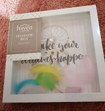 New Cool Box Frame/ Shadow Box - Make your dream happen 22cmx 22cm