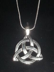 Triquetra Trinity Knot Celtic Pendant Necklace Choice of Necklace