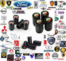 Black 'Motorsports' Wheel Valve Caps. Many Makes & Models - Check for yours.