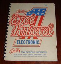 Bally Pinball Original Evel Knievel Manual 1977