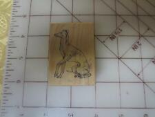 "PSX D-644 ""Italian Greyhound"" D644 dog canine wood mounted rubber stamp usa 1994"