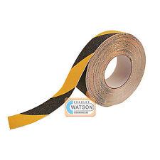 25mm x 5m schwarz/gelb antirutschschbelag sehr griffige Klebstoff gesichert