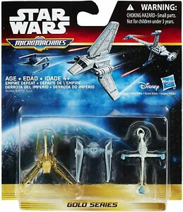 Star Wars: Return of the Jedi Micro Machines 3 Pack Empire Defeat Gold Series