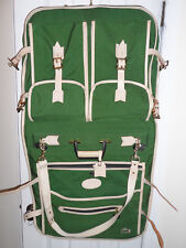 Vintage LARK IZOD LACOSTE Green Folding Suit Dress Garment Carry On Bag USED